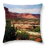 Utah Plateau Mtn M 303 Throw Pillow