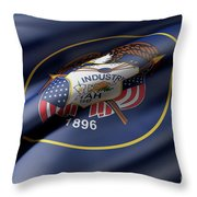 Utah State Flag Throw Pillow