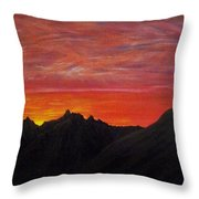 Utah Sunset Throw Pillow by Michael Cuozzo