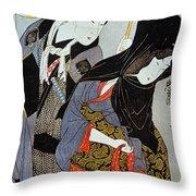 Utamaro: Lovers, 1797 Throw Pillow