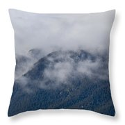 Ute Pass As Storm Clouds And Fog Roll In  Throw Pillow