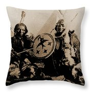 Ute Tribe In Council Throw Pillow