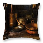 Utensils - Colonial Utensils Throw Pillow