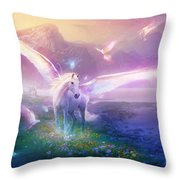 Utherworlds Winter Dawn Throw Pillow