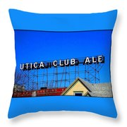 Utica Club Ale West End Brewery Throw Pillow