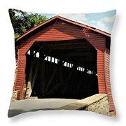 Utica Mills Covered Bridge Throw Pillow