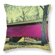 Utica Mills Covered Bridge Throw Pillow
