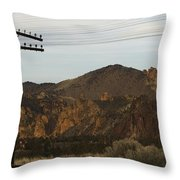 Utility Pole Throw Pillow