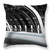 Utopia Station Throw Pillow