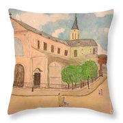 Utrillo And Church Seasonal Change In Paris By Japanese Artist Throw Pillow