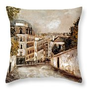 Utrillo: Montmartre, 20th C Throw Pillow