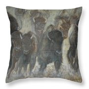 Uttc Buffalo Mural Center Panel Throw Pillow