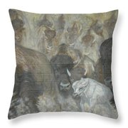 Uttc - Buffalo Mural Left Panel Throw Pillow