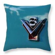 V 8 Throw Pillow