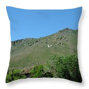 V For Virginia City Nv Mail Drop Throw Pillow