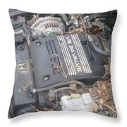 V6 24 Valve Throw Pillow