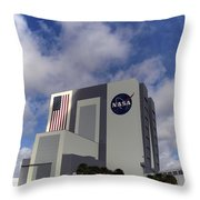 Vab At Kennedy Space Center Throw Pillow