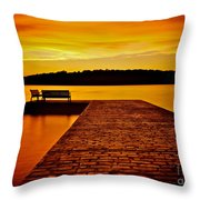 Vacant Sunset Throw Pillow by Mark Miller