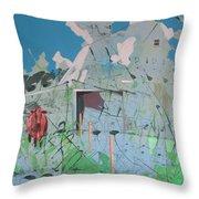 Vacant Vaca Barn Throw Pillow