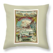 Vacation For Winter Sport Throw Pillow