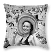 Vacation Montage, C.1930s Throw Pillow