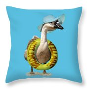 Vacation Time For Summer Goose Throw Pillow