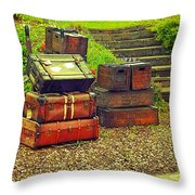 Vacation Time Throw Pillow