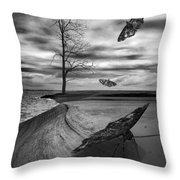 Vacationers Throw Pillow