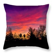 Vacaville Sunset Silhouette  Throw Pillow