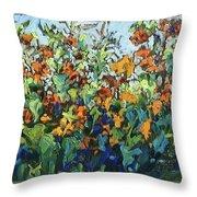 Vadasz Sunflowers Throw Pillow