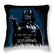 Vader Throw Pillow