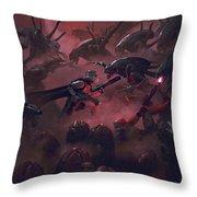 Vader Vs Aliens 1 Throw Pillow