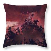 Vader Vs Aliens 2 Throw Pillow