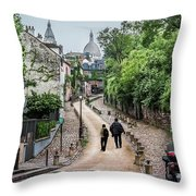 Vagabonds In France Book Cover Throw Pillow