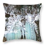 Vail Ice Falls Throw Pillow