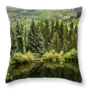 Vail Reflections In The Summer Throw Pillow