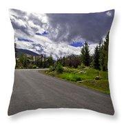 Vail Road Throw Pillow