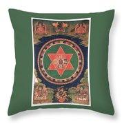 Vajravarahi Mandala Throw Pillow
