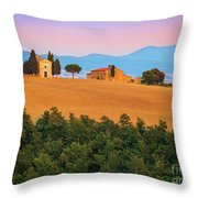 Val D'orcia Serenity Throw Pillow