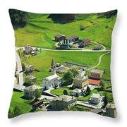 Val Poschiavo From The Bernina Express Switzerland Throw Pillow