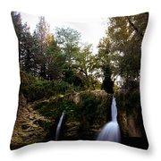 Val Rea Waterfalls Throw Pillow