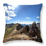 Valecito And Chicago Basins From Mt Jupiter - Weminuche Wilderness - Colorado Throw Pillow