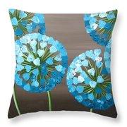 Valentine Alliums Throw Pillow