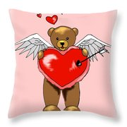 Valentine Bear Throw Pillow