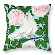 Valentine Doves Throw Pillow