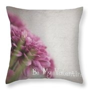 Valentine Flowers Throw Pillow