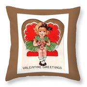 Valentine Greetings Throw Pillow