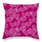 Valentine Hearts Pattern Throw Pillow