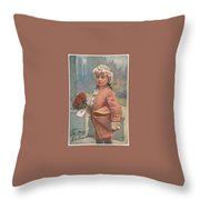 Valentine In The Victorian Era Throw Pillow