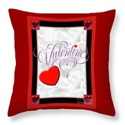 Valentine Script Throw Pillow